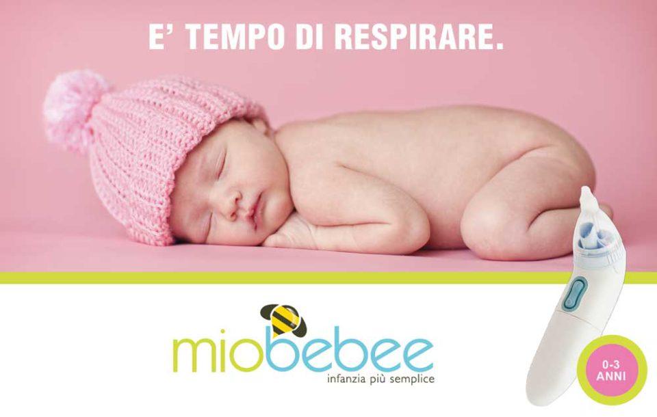 Addio nasino chiuso con Miobebee, l'aspiratore nasale elettrico