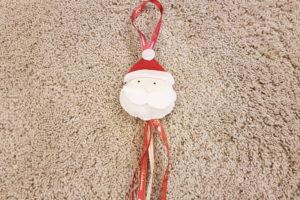 Tutorial ghirlanda Babbo Natale in feltro